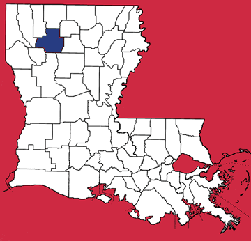 Map of Bienville Parish