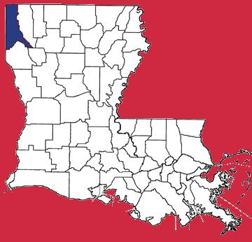 Map of Caddo Parish