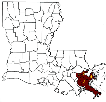 Greater New Orleans Parishes