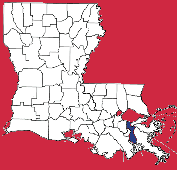 Map of Jefferson Parish