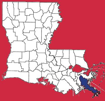 Map of Plaquemines Parish