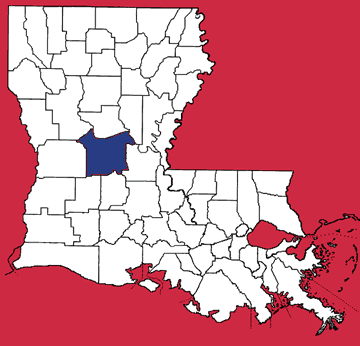 Map of Rapides Parish
