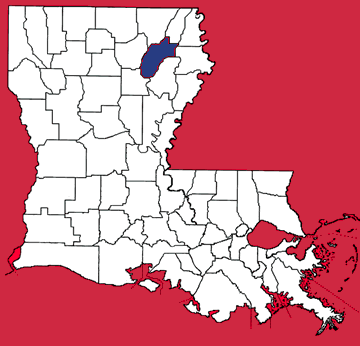 Map of Richland Parish