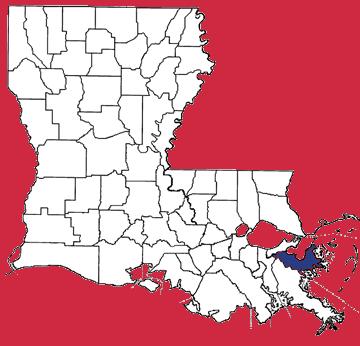 Map of St. Bernard Parish
