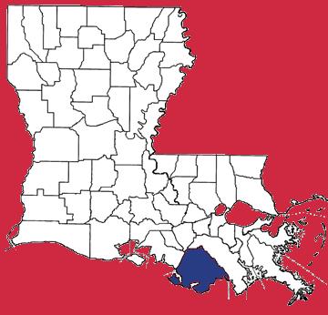 Map of Terrebonne Parish